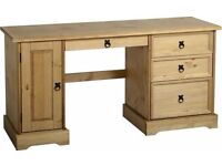 Corona pine desk - brand new and flat packed