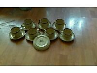 Set of 15 Denny cups and sauces set