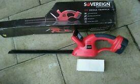Brand new boxed Sovereign hedge trimmer 18V