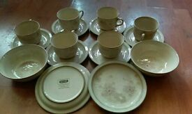 16 piece set denby sandalwood tea set