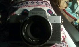 Praktica L Vintage collectible camera with lens