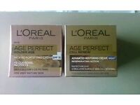 X2 New L'oreal Age Perfect creams 1cell renew night 1golden age