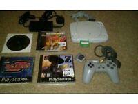 Sony slim psone ps1 console bundle
