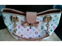 Louis Vuitton White multicolor Annie MM Handbag SOLD SOLD SOLD!!!