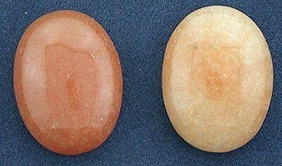 Two 20x15 Red Aventurine Cabochon Gem Stone -