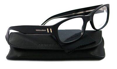 Giorgio Armani GA782 Color Y6C Black Thick Bold Plastic Eyeglasses 53-19-140