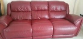 Red Harvey's reclining sofa £1500