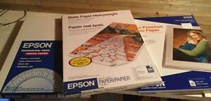 Three Unopened Packages Epson Photo Paper