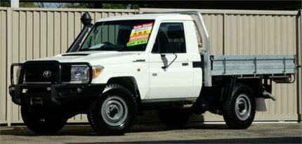 2014 Toyota Landcruiser VDJ79R MY12 Update Workmate (4x4) White 5 Speed Manual Cab Chassis Lismore Lismore Area Preview