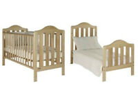 Mamas and Papas Lucia Cot Bed (Hardwood frame and mattress, suitable from birth to 4 years)