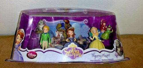 NIB Disney Store Sofia the First 6 Piece Figurine Playset, Cake Topper
