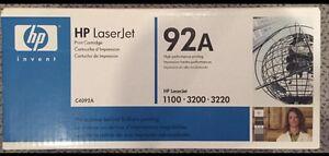 HP 92A LaserJet toner cartridge