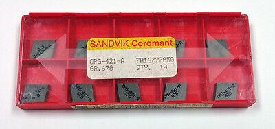 CPG-421-A 670 SANDVIK COROMANT (10 INSERTS)