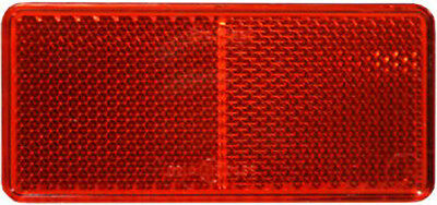 2 X RED REFLECTOR SELF ADHESIVE STICK ON REAR REFLECTORS 90 x 40mm TRAILER TP21