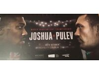 4 x Anthony Joshua V Carlos Takam Tickets - Lower Tier 20 - Cardiff Principality Stadium.