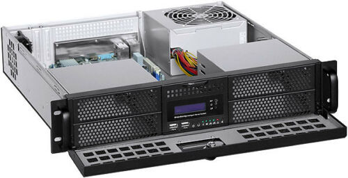 "2U (Door LCD) (4x5.25""+ 4x2.5"" HDD Bay)(Rackmount Chassis)(D:16.93"" ITX Case)NEW"