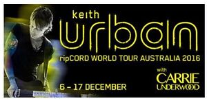 Keith Urban Tickets x2 GOLD RESERVED SEATING Yarraville Maribyrnong Area Preview