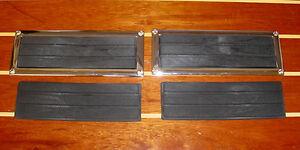 4-BOAT-STEP-PADS-2-CHROME-FRAMES-PERKO-1225-1-MARINE-CHRIS-CRAFT-CENTURY