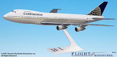 Flight Miniatures Continental Airlines 1991 Boeing 747-100/200 1:250 Scale
