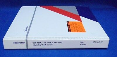 Tektronix Tds 410a 420a 460a Oscilloscope User Manual
