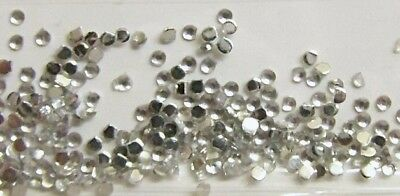 Wow ca.100 Stück Strasssteine ✅ rund Silber extra klein ✅ nur 1 mm Zahnschmuck