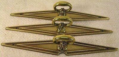10 Vintage Brass Handles Pulls Knobs Cabinet Furniture Hardware