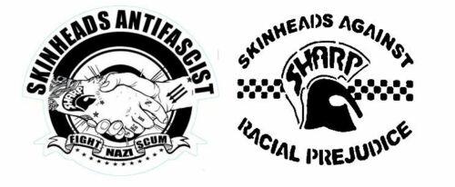 x10+12cm+Shaped+Vinyl+Stickers+skinhead+ska+trojan+reggae+antifa+sharp+laptop+