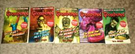 Goosebumps books x 5