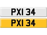 *PXI 34* Dateless Personalised Cherished Number Plate Audi BMW M3 Ford VW Caddy Mercedes Vauxhall