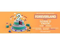 Foreverland 2nd Birthday Paper Ticket