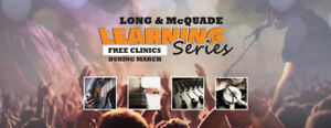 Free Clinics During March At Long & McQuade in Peterborough