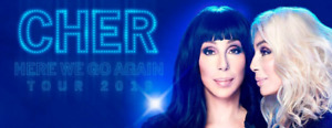 BEST TICKETS ✫✫ CHER✫✫ CHER✫✫HERE WE GO AGAIN TOUR TUE May 28