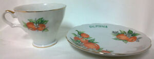 Vintage Porcelain S-373 California Tea Cup & Saucer - $15.00