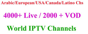 IPTV all channels and languages , free trial