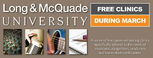 Free Guitar Clinic at Long & McQuade Woodstock March 25th!