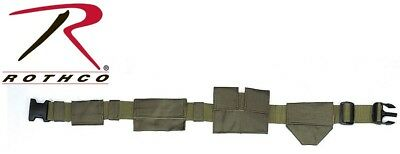Olive Drab Green SWAT Tactical Duty Belt With Pouches Utility Belt Rothco 4250