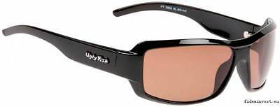 e4abbd2ce7 Ugly Fish Polarised Sunglasses PT5800 Shiny Black With Brown Lens