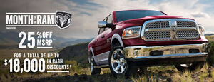 Up to $18,000 OFF RAM TRUCKS