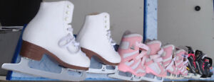 Gently-Used Kids Ice Skates: ideal package for young family