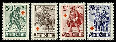 Finland B39-42 MNH Red Cross, Military, Soldiers, Horse