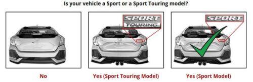 SMARTLINER Custom Fit Cargo Liner Behind 2nd Row For 17-20 Honda Civic Hatchback