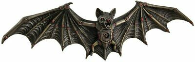 Steampunk Flying Bat Wall Sculpture Unique Halloween Decoration Spooky Cool Art