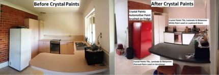 KITCHEN BENCHTOP, CUPBOARD DOORS & FRIDGE PAINTS 3 X 1 LITRE
