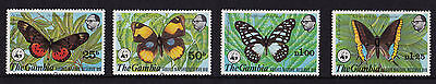 Gambia - 1980 Abuko Nature Reserve (3rd Series) - Butterflies - U/M - SG 431-4