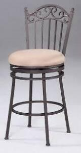FOR SALE:  SWIVEL STOOL WITH CUSHIONED  FABRIC SEAT