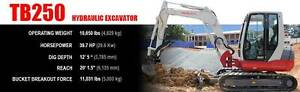 Mini Excavator Takeuchi 5 ton with airconditioned cabin Leeming Melville Area Preview