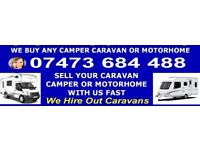 CARS VANS & CARAVANS WANTED