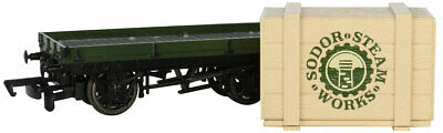 Bachmann 77404 1 PLANK WAGON WITH SODOR STEAM WORKS CRATE (HO SCALE) NEW Thomas