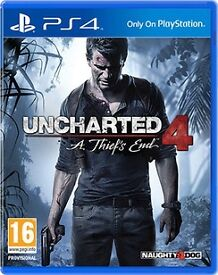 unchartered 4 - a thiefs end , ps4 , as new ! price stands , no offers !