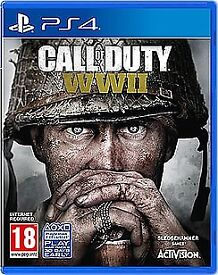 Cod ww2 and star wars battlefront 2 ps4
